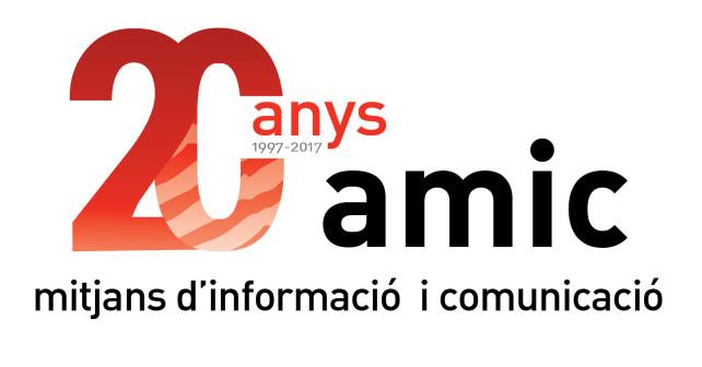 AMIC logo 20 anys