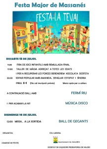 Festa Major de Massanés estiu 2017