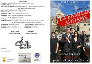 Programa de mà - La Família Addams