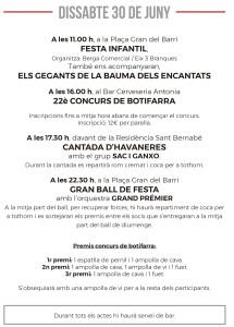 Festes Font del Ros 2018- Programa-11