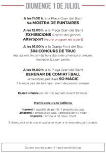Festes Font del Ros 2018- Programa-15