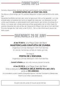 Festes Font del Ros 2018- Programa-7