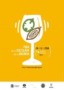 Cartell i programa d'actes Fira de la Xocolata i de la Ratafia 2018-1