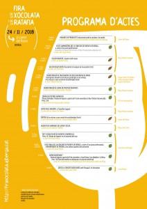 Cartell i programa d'actes Fira de la Xocolata i de la Ratafia 2018-2