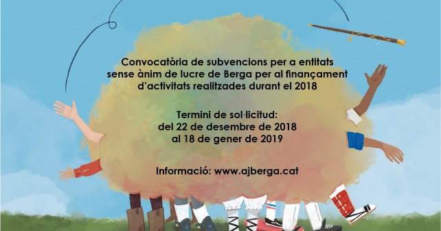 Convocatòria subvencions 2018