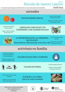 2018-2019 CARTELL ESCOLA DE MARES I PARES