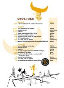 Fira Santa Tecla 2020 - Programa d'actes