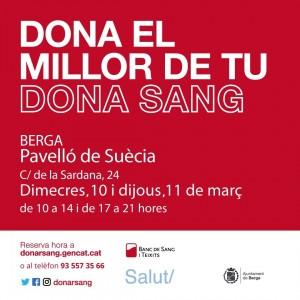 Donació de sang - Berga (Març 2021)